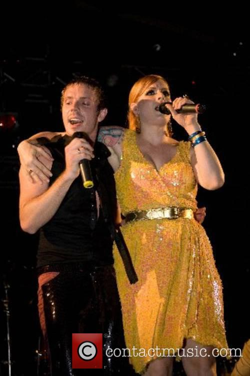 The Scissor Sisters play the official party marking...