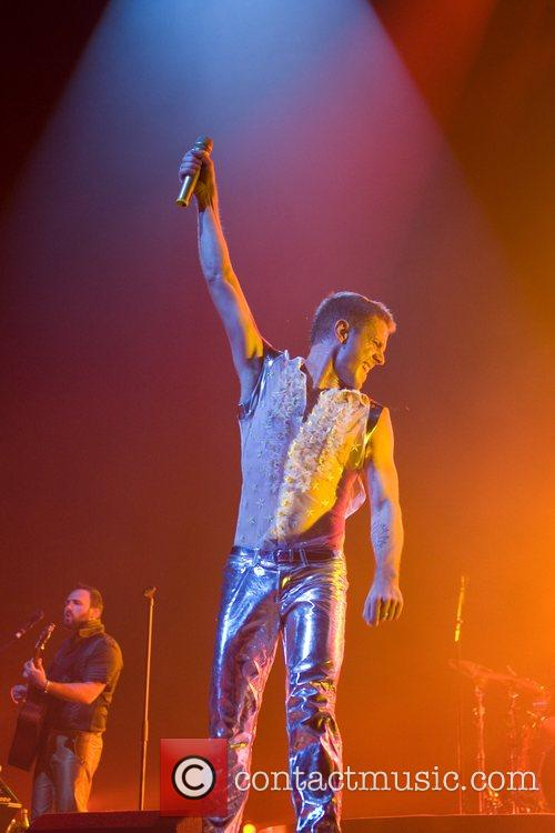 Jake Shears Scissor Sisters performing live at the...