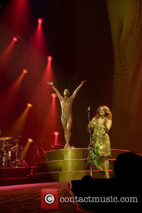 Scissor Sisters performing live at the O2 Arena...