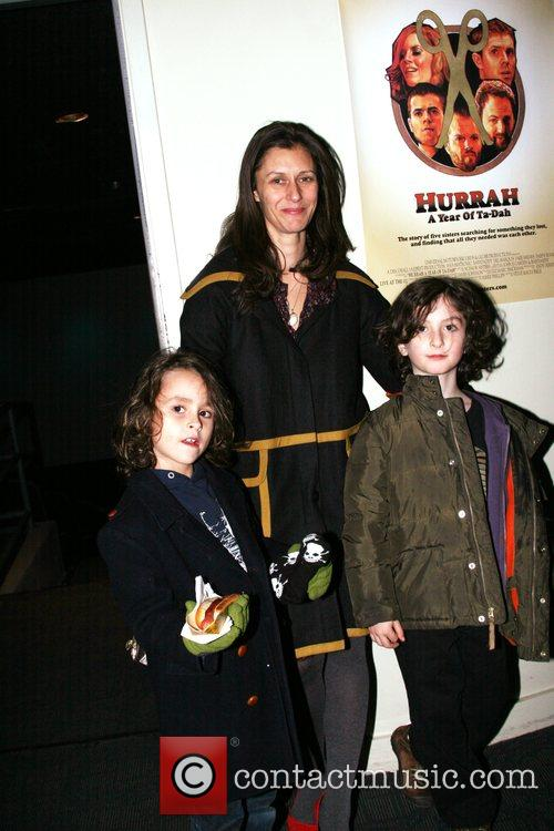 Sally Singer and her children Scissor Sisters preview...