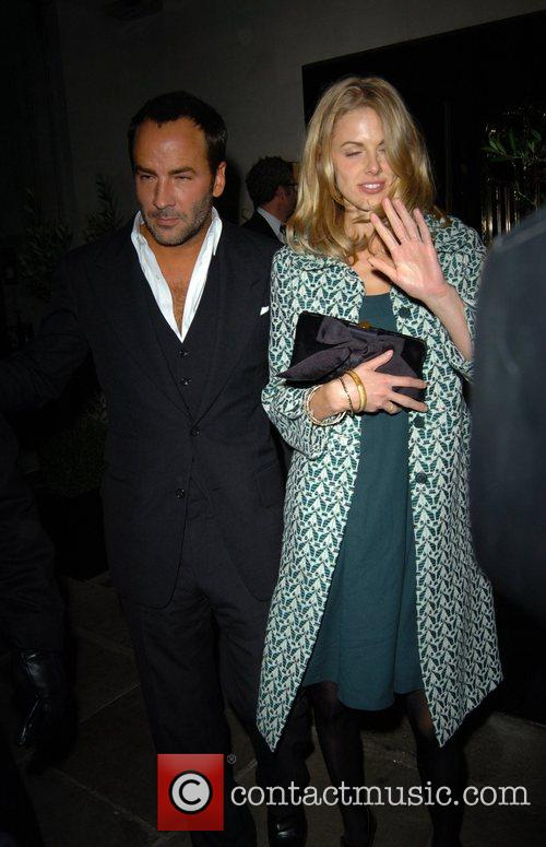 Donna Air and Tom Ford,  leaving Scotts...