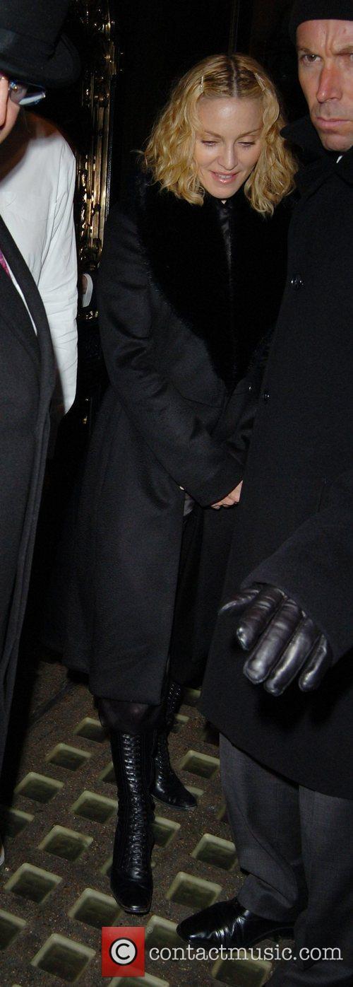Madonna ,  leaving Scotts restaurant in Mayfair...