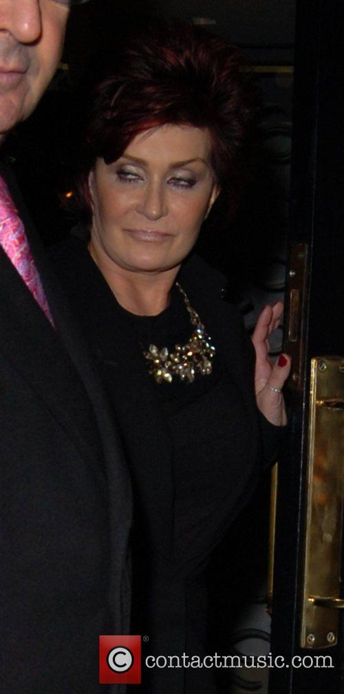 Sharon Osbourne ,  leaving Scotts restaurant in...