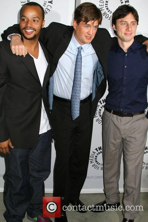 Donald Faison, Bill Lawrence and Zach Braff 'Scrubs:...