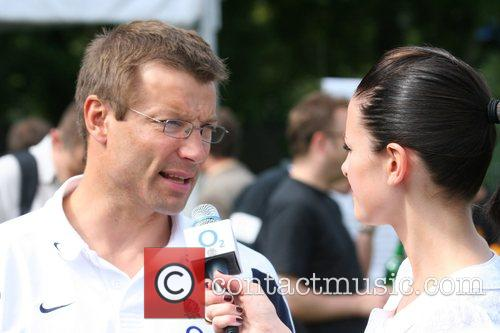 Rob Andrew and Kirsty Gallagher O2 Scrum In...