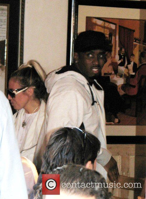 Sean Combs aka P.Diddy leaving Trilussa after having...