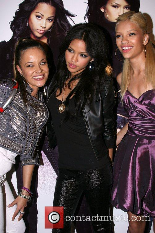 Cassie and guests Sean John Women's launch party...