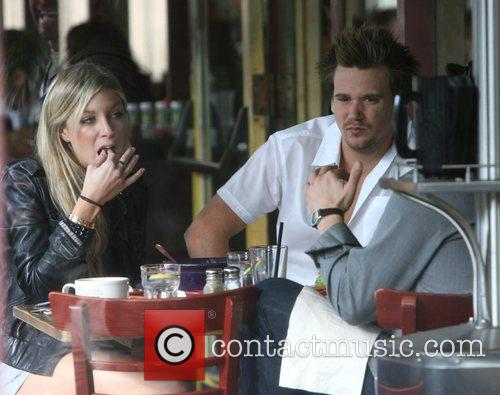 Sean Stewart and fiancee Caleigh Peters (daughter of...