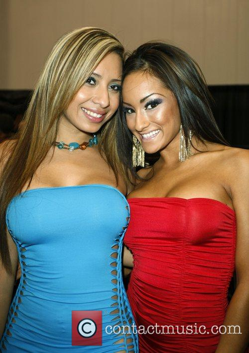 Pam Rodriguez and Angelica Carrera SEMA Convention at...