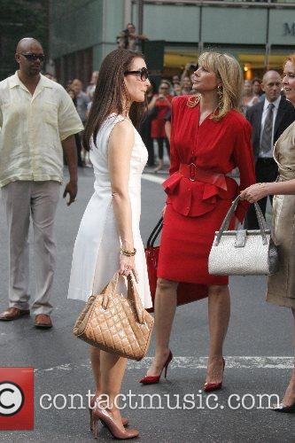 Kristin Davis, Cynthia Nixon and Kim Cattrall on...