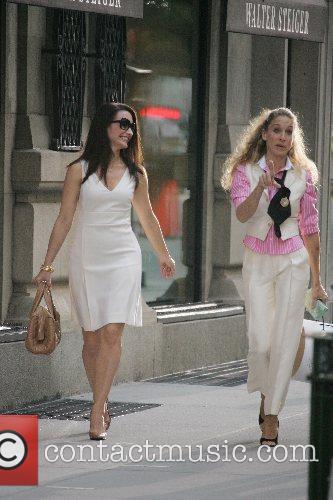 Kristin Davis and Sarah Jessica Parker  on...