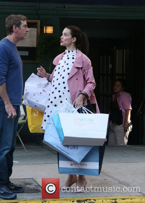 Kristin Davis Filming on location in NYC for...