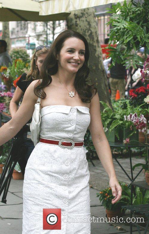 Kristen Davis on the film set for 'Sex...