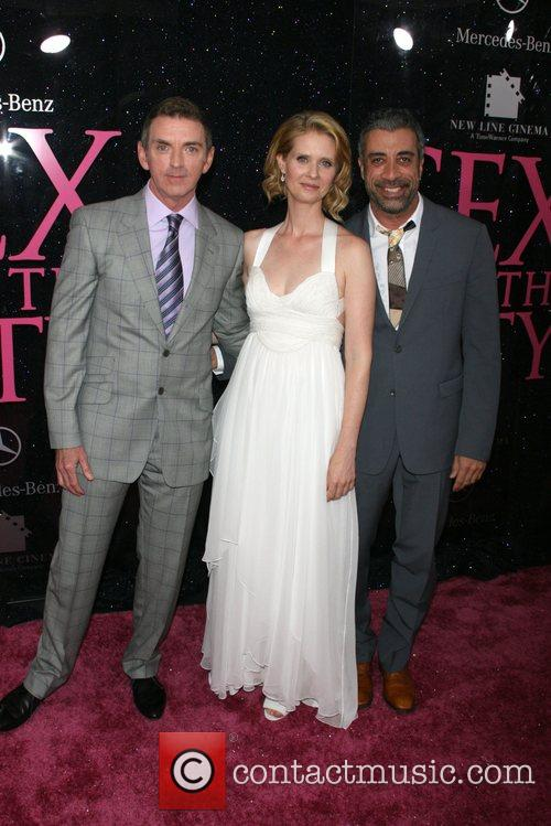 Michael Patrick King, Cynthia Nixon and Producer John...