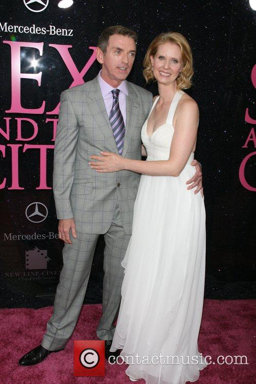 Michael Patrick King and Cynthia Nixon US premiere...