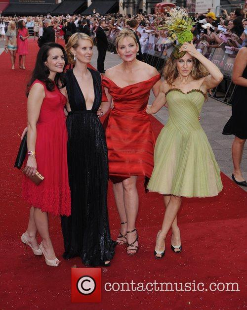 Kristin Davis, Cynthia Nixon, Kim Cattrall, Sarah Jessica Parker and Sex And The City 7