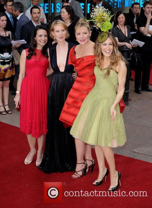 Kristin Davis, Cynthia Nixon, Kim Cattrall, Sarah Jessica Parker, Sex And The City, Odeon Leicester Square