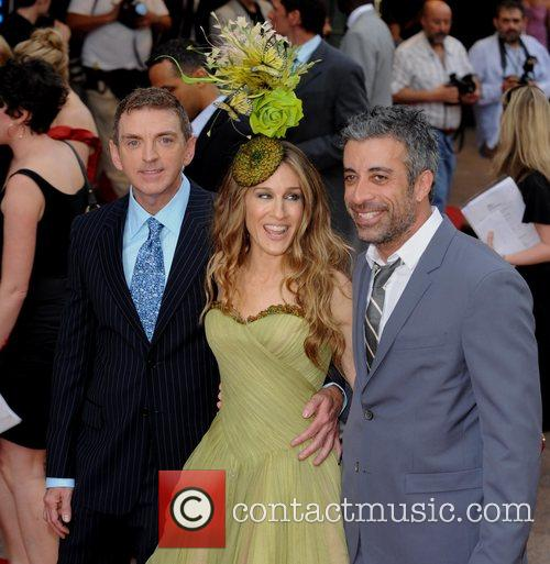 Michael Patrick King, Sarah Jessica Parker and guest...