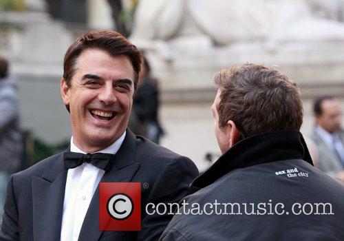 Chris Noth on the film set for 'Sex...