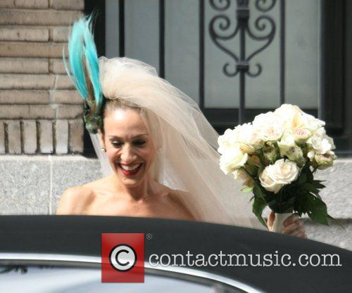 Filming a wedding scene for 'Sex And The...