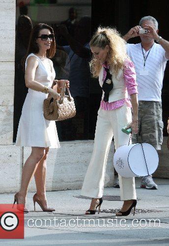 Kristin Davis, Sarah Jessica Parker The stars of...