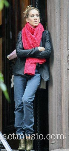Sarah Jessica Parker on the film set for...