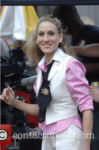 Sarah Jessica Parker on the film set of...
