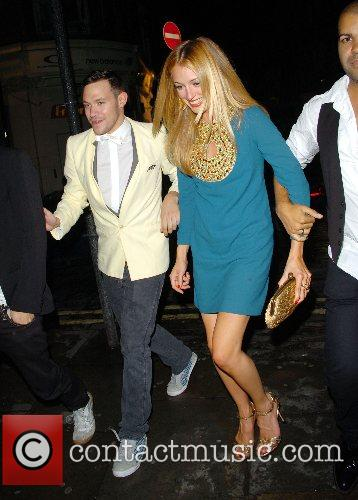 Will Young and Cat Deeley leaving the Shadow...