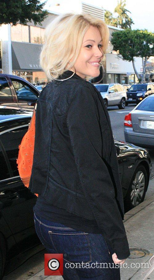 Shanna Moakler shopping on Robertson Boulevard at Kitson...