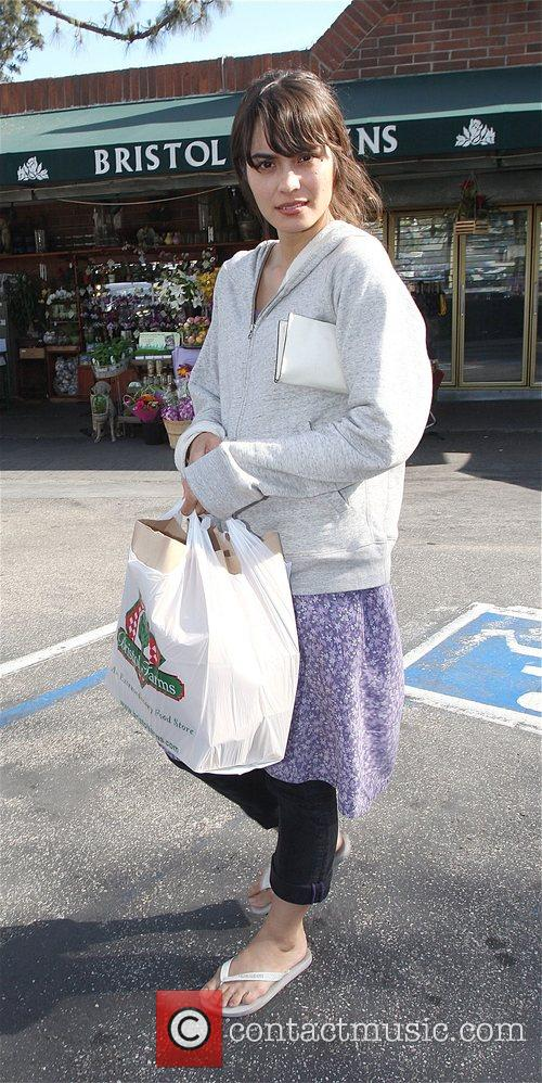 Goes food shopping at Bristol Farms in Hollywood