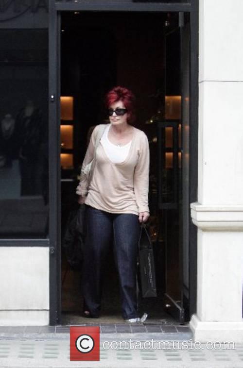 Sharon Osbourne leaving the Gina store on Bond...
