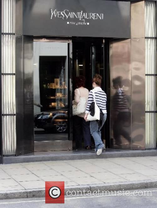 Sharon Osbourne entering the Yves Saint-Laurent store on...