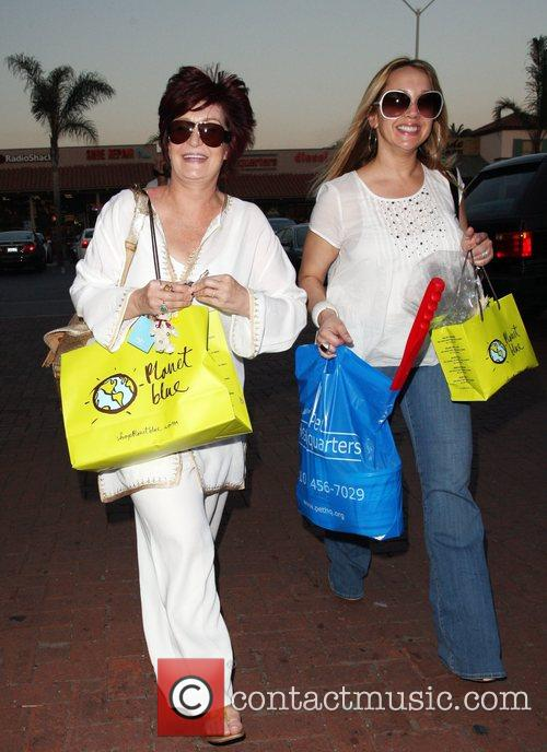 Sharon Osbourne and a friend shopping at Planet...