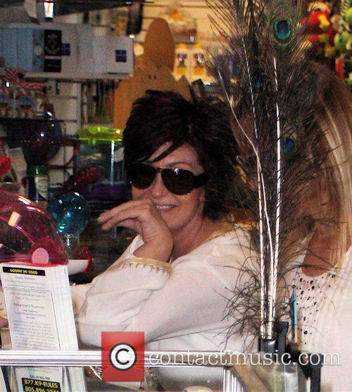 Sharon Osbourne shopping at Planet Blue pet store...
