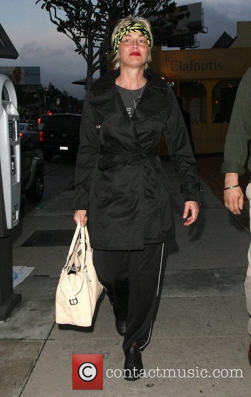 Sharon Stone goes to lunch in Sunset Boulevard...