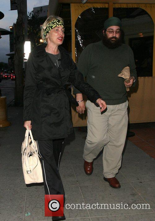 Sharon Stone goes to lunch with a friend...