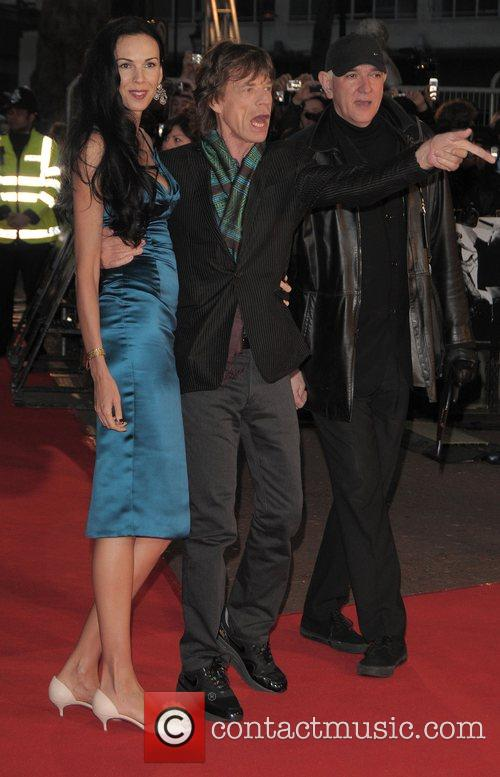 L'Wren Scott, Mick Jagger, Odeon Leicester Square