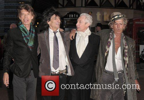 Mick Jagger, Charlie Watts, Keith Richards, Ronnie Wood, Odeon Leicester Square