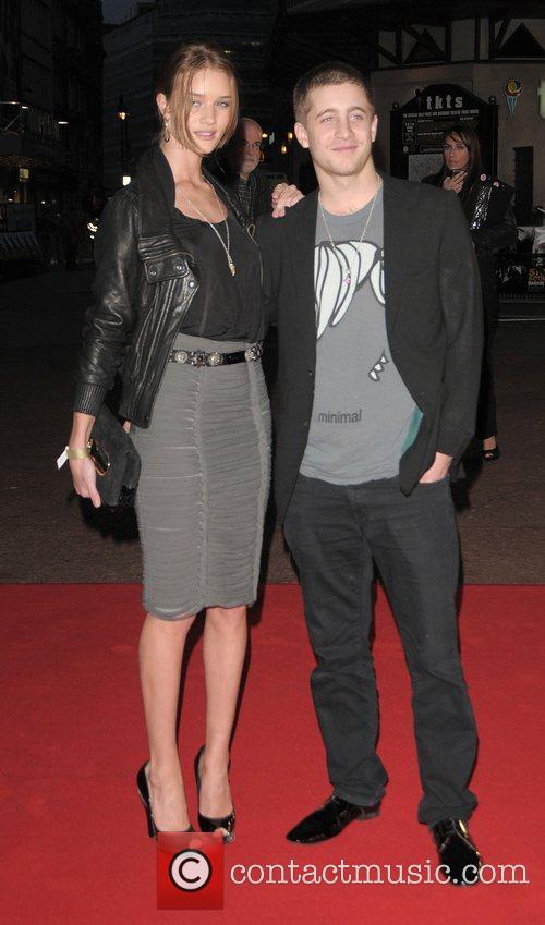 Rosie Huntington Whiteley and Tyrone Wood UK premiere...