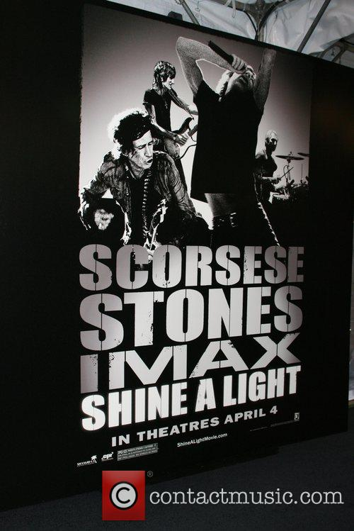 Poster New York Premiere of 'Shine a Light'...