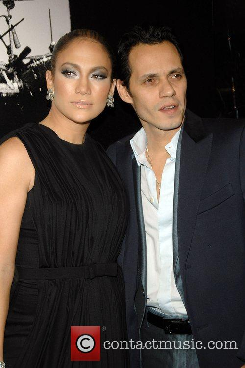Jennifer Lopez and Marc Anthony at the New...