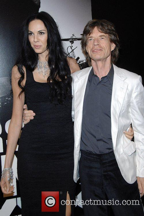 Mick Jagger and L'Wren Scott at the New...