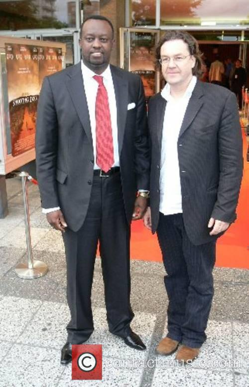 Eugene-Richard Gasana (Ambassador of Ruanda) and Jens Meurer...