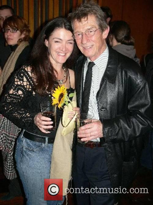 John Hurt and his wife Anwen Rees-Meyers Premiere...