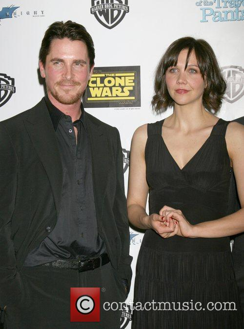 Christian Bale and Maggie Gyllenhaal Warner Brothers event...