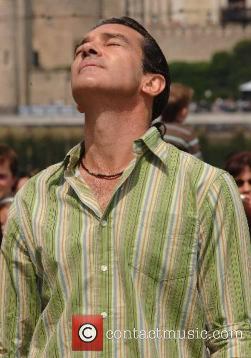 Antonio Banderas soaking up the sun Shrek the...
