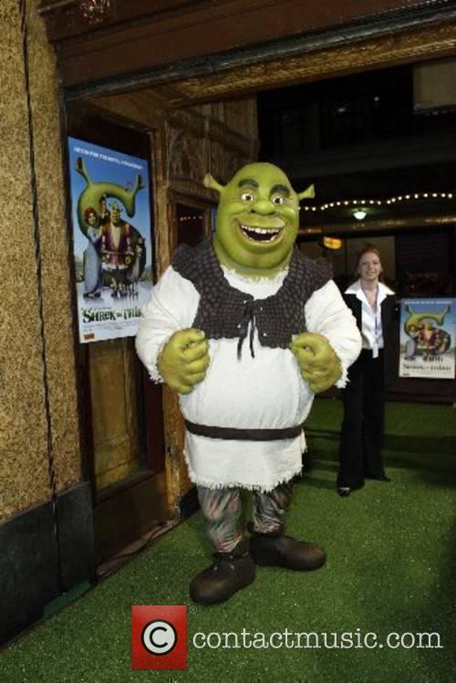 Shrek at the Australian premiere of Shrek III...