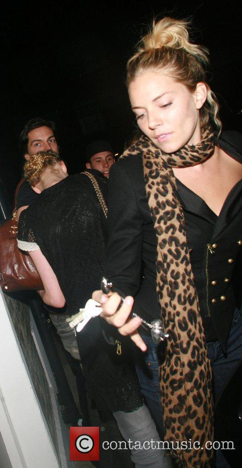 Sienna Miller goes home after partying