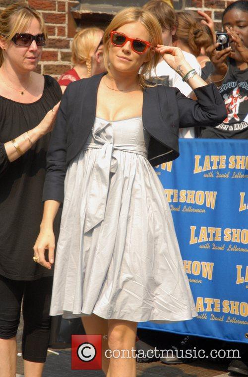 Sienna Miller arrives at the Ed Sullivan Theatre...