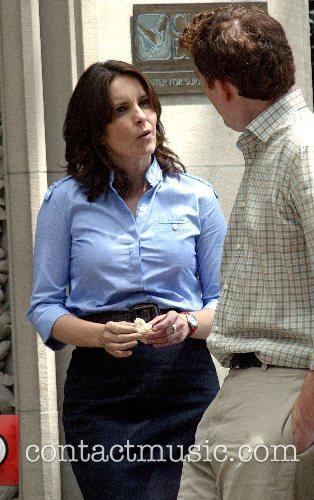 Amy Poehler on the movie set 'Baby Mama'...